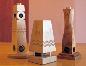 Handmade candlesticks by Paul Swatridge